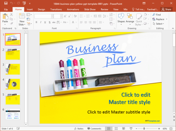 Powerpoint Business Plan Template Inspirational Free Business Plan Powerpoint Template