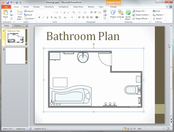 Powerpoint Floor Plan Template Elegant Bathroom Plan Templates for Powerpoint