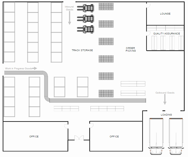 Powerpoint Floor Plan Template New Warehouse Layout Design software Free Download