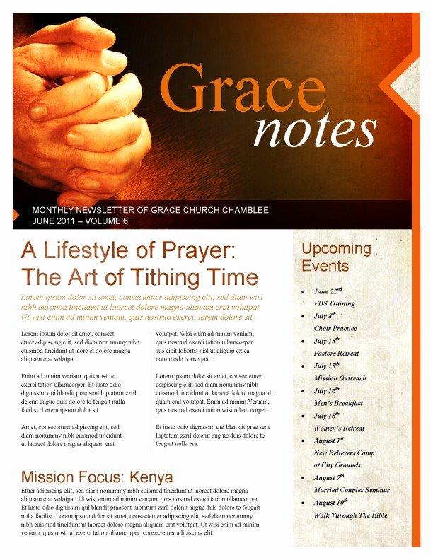 Prayer Letter Templates Free Beautiful Prayer Church Newsletter