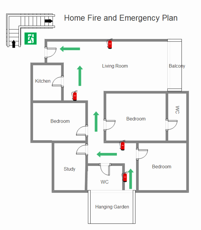 Pre Fire Plan Template Fresh Simple Fire Emergency Chart Maker Make Great Looking