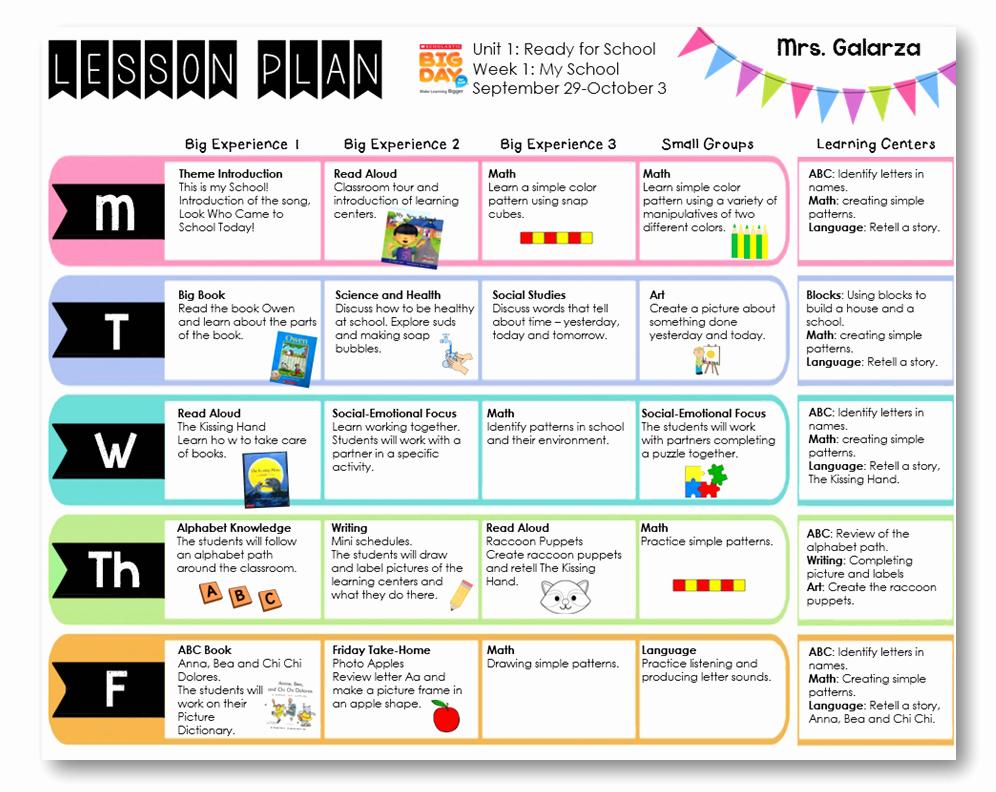 Pre K Lesson Plan Template Beautiful Teacher Week when Thursday Freebies