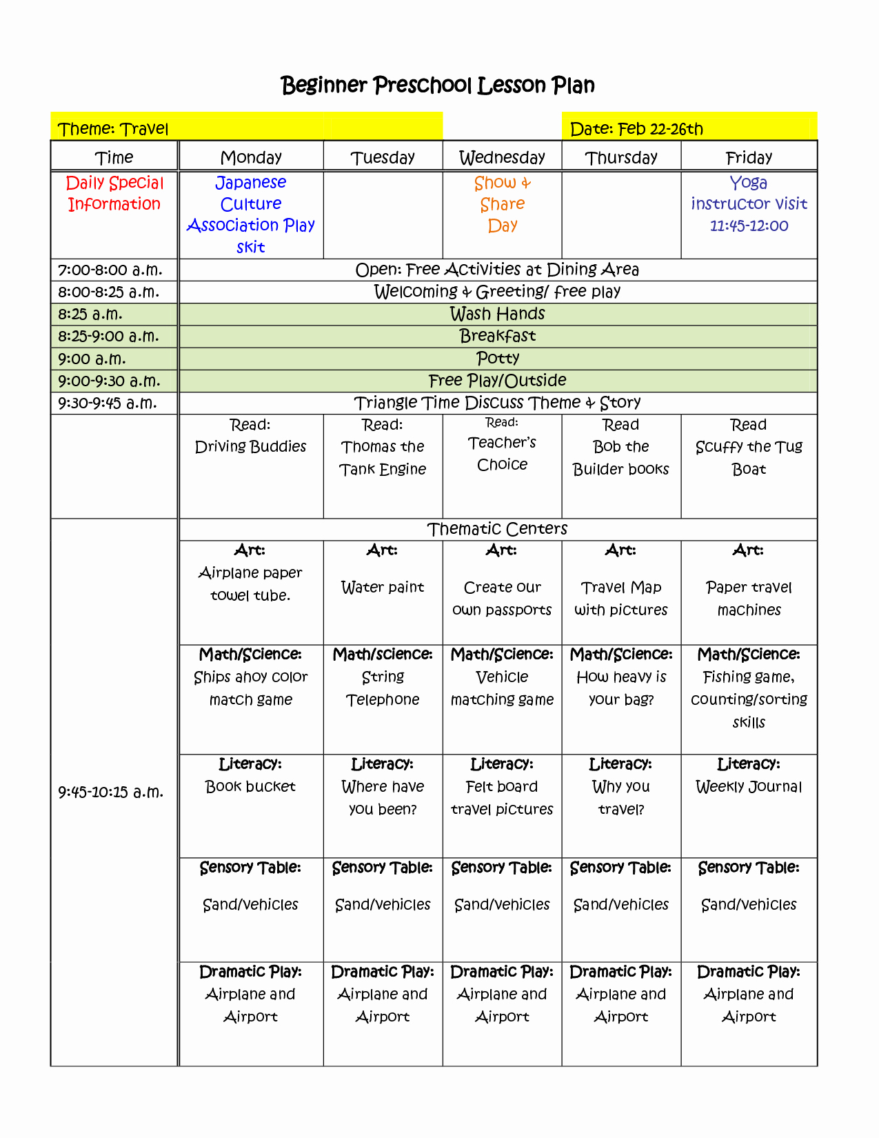 Pre K Lesson Plan Template Elegant themes Units Preschool Lesson Plans