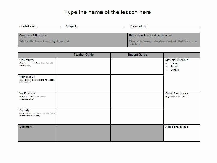 Pre K Lesson Plan Template Fresh Lesson Plan Template Google Search