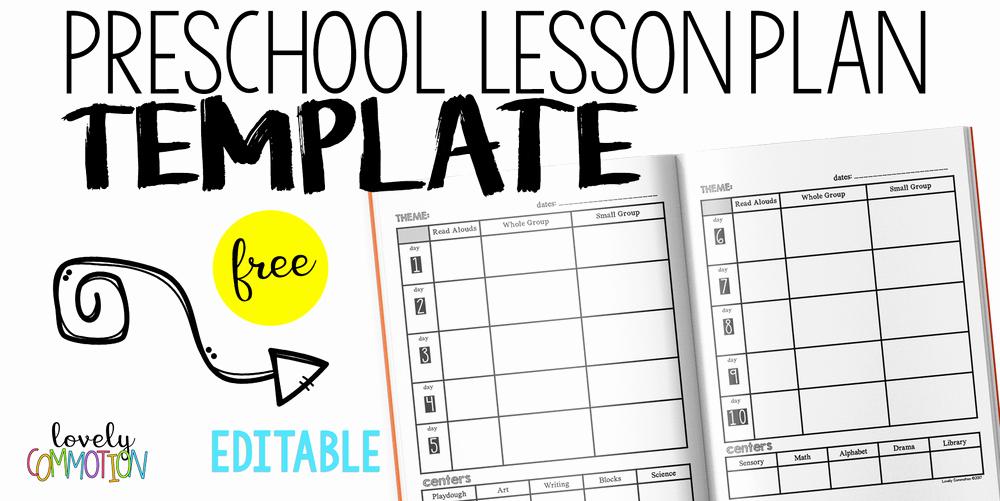 Pre Kindergarten Lesson Plan Template Elegant Easy and Free Preschool Lesson Plan Template — Lovely