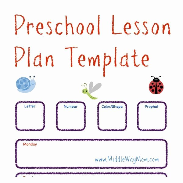 Pre Kindergarten Lesson Plan Template Fresh Make Preschool Lesson Plans to Keep Your Week Ready for