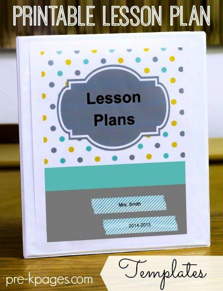 Pre Kindergarten Lesson Plan Template Inspirational Printable Lesson Plans for Preschool Pre K and Kindergarten