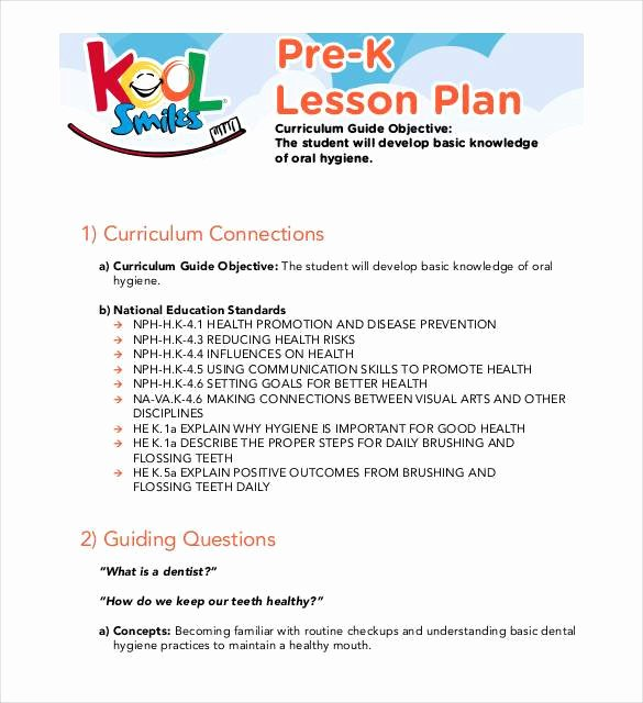 Prek Lesson Plan Template New Pre K Business Plan Stie Pertiwi