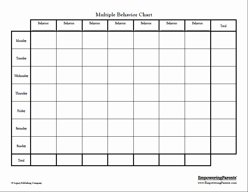Preschool Behavior Plan Template Awesome 9 Free Behavior Chart Template Word Pdf Docx