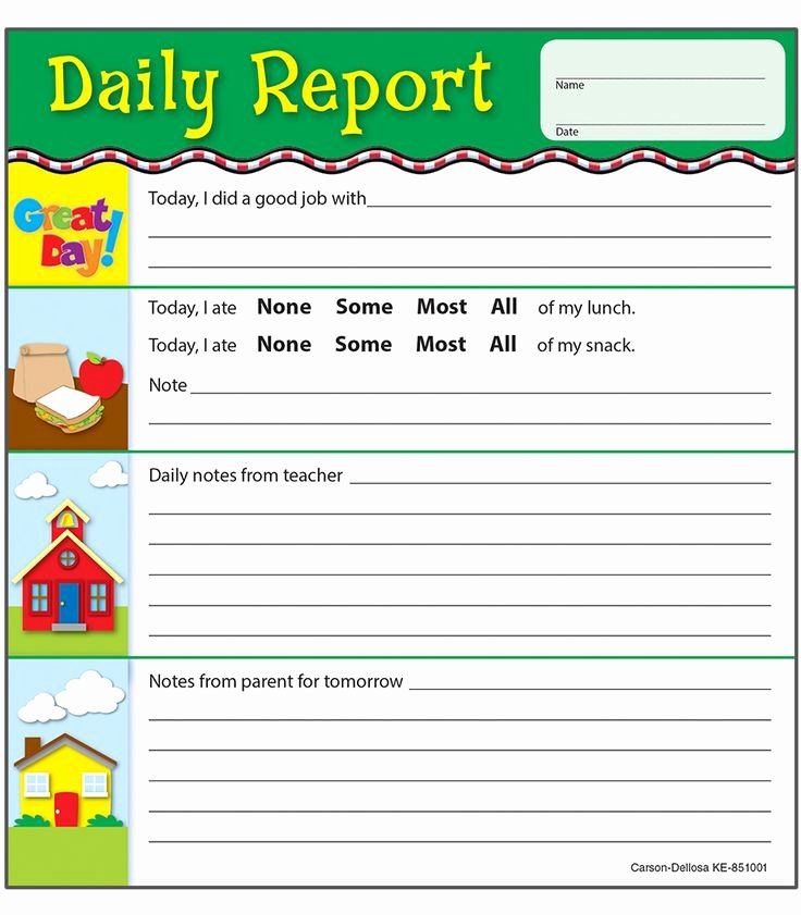Preschool Behavior Plan Template Beautiful Best 20 Preschool Daily Report Ideas On Pinterest