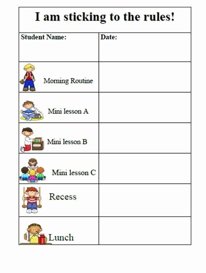 Preschool Behavior Plan Template Unique 10 Best Of Behavior Chart Template Pdf for Six