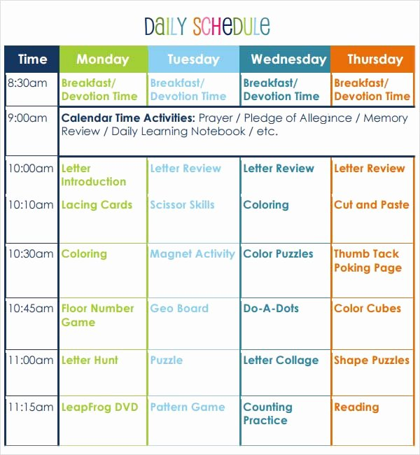 Preschool Daily Lesson Plan Template Awesome Preschool Lesson Plan Template 10 Download Free