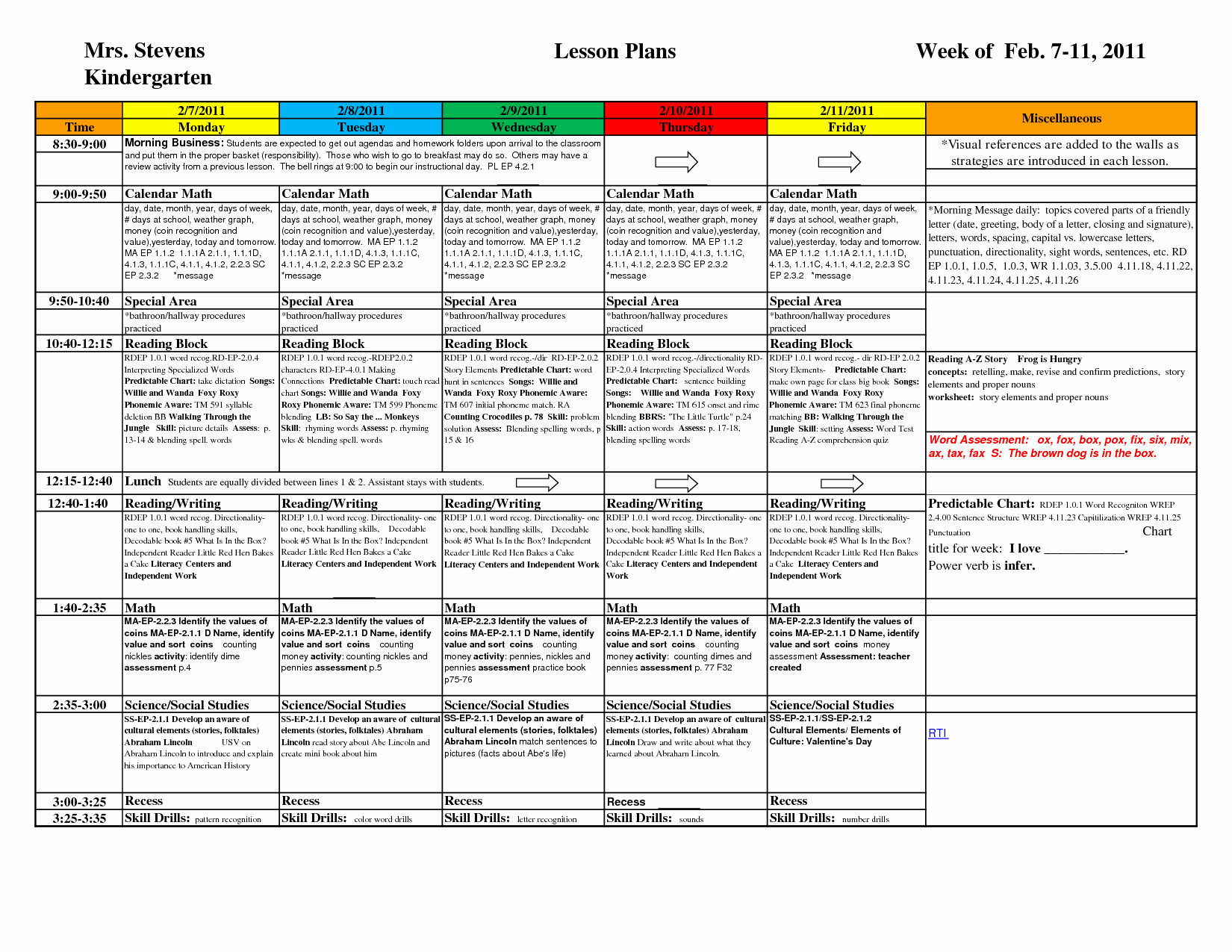 Preschool Daily Lesson Plan Template New Preschool Weekly Lesson Plan Template