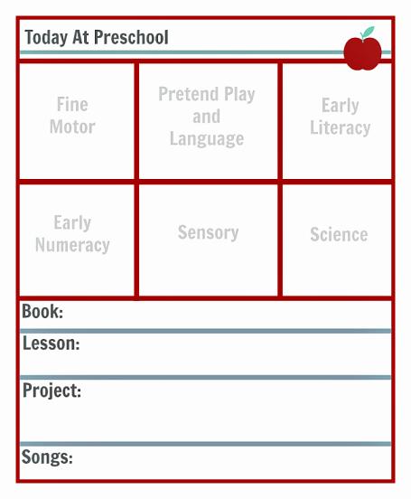 Preschool Lesson Plan Template Beautiful Preschool Lesson Planning Template Free Printables
