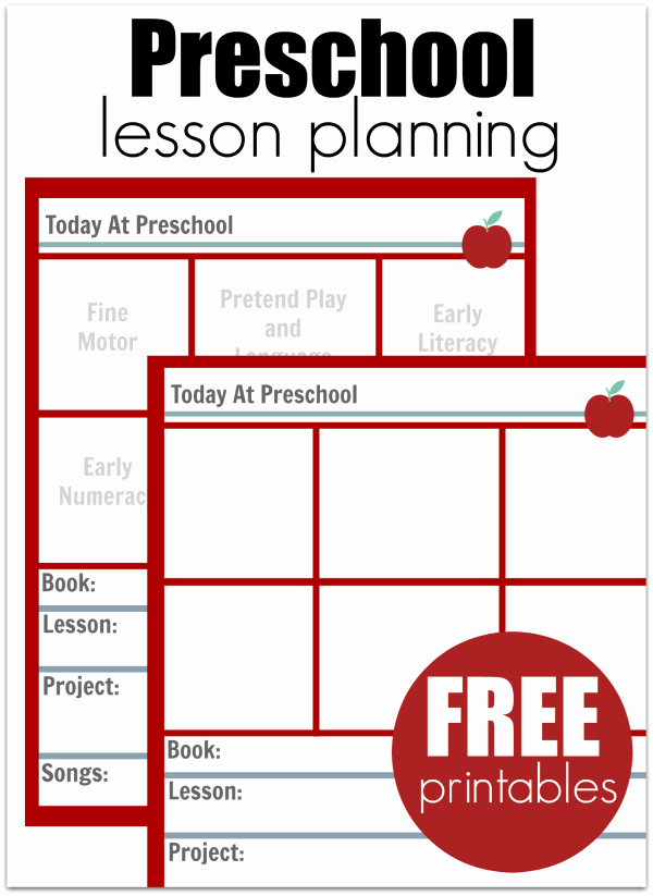Preschool Lesson Plan Template Inspirational Preschool Lesson Planning Template Free Printables No
