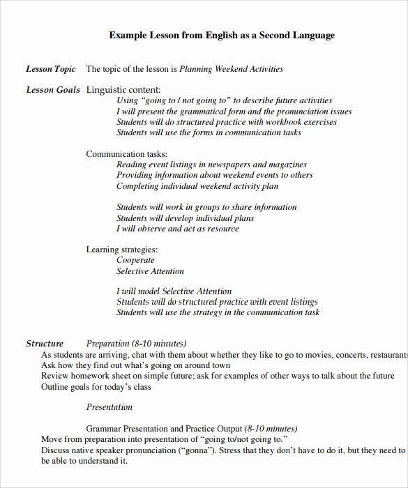 Preschool Lesson Plan Template Pdf Beautiful Preschool Lesson Plan Template 10 Download Free