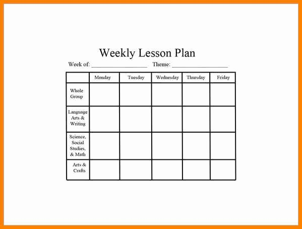 Preschool Lesson Plan Template Pdf Best Of 7 Editable Weekly Lesson Plan Template