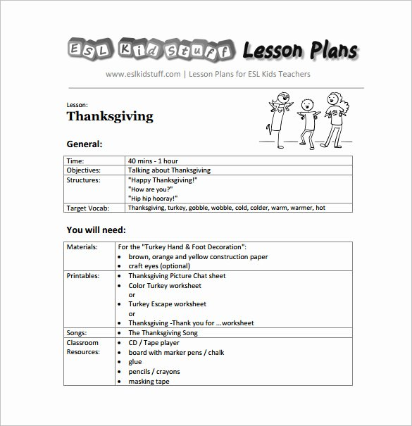 Preschool Lesson Plan Template Pdf New Kindergarten Lesson Plan Template 3 Free Word Documents