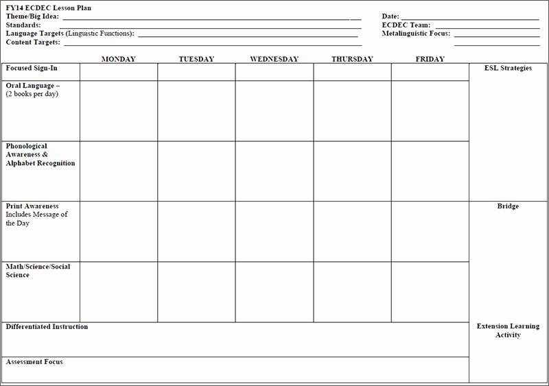 Preschool Lesson Plan Template Unique Preschool Lesson Plan Sample the E390 Web Fc2