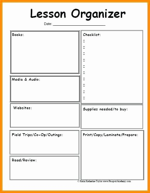 Preschool Lesson Plan Template Word Fresh Blank Simple Lesson Plan Template – Blank Lesson Plan
