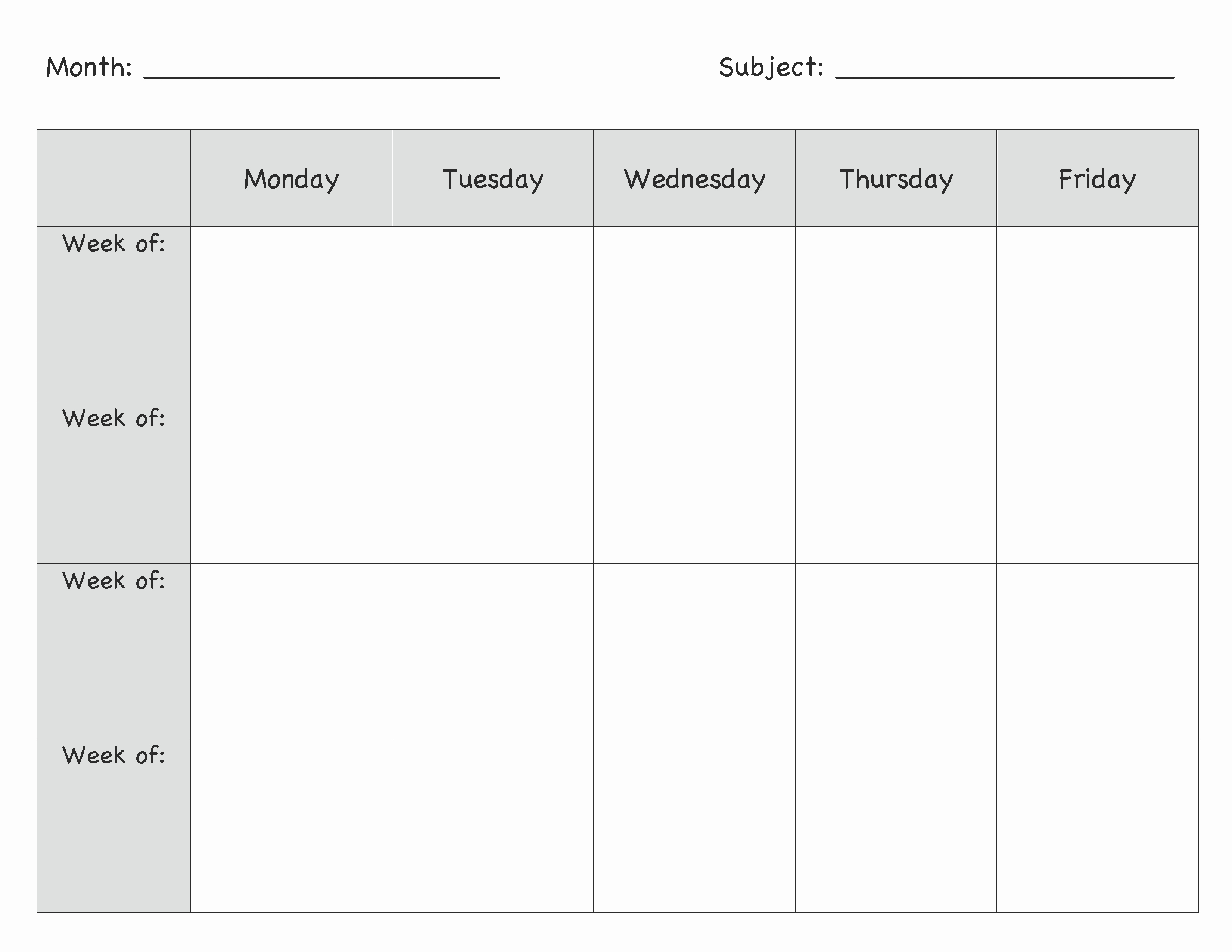 Preschool Weekly Lesson Plan Template Beautiful Monthly Lesson Plan Template … Lesson Plans