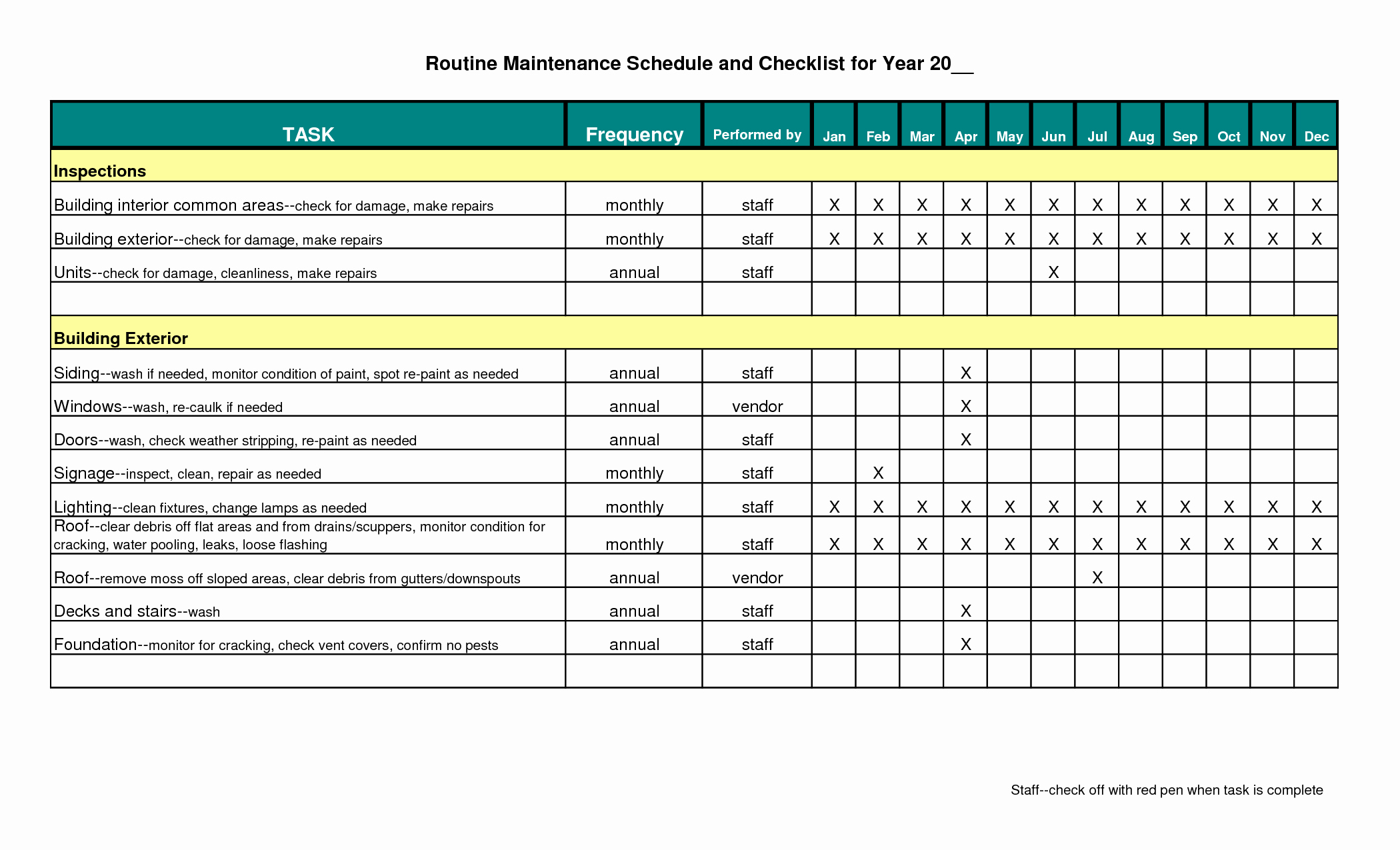 Preventative Maintenance Plan Template Luxury Preventive Maintenance Schedule Template Excel