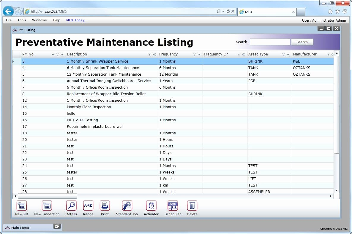 Preventative Maintenance Plan Template New Vehicle Preventive Maintenance Template Excel