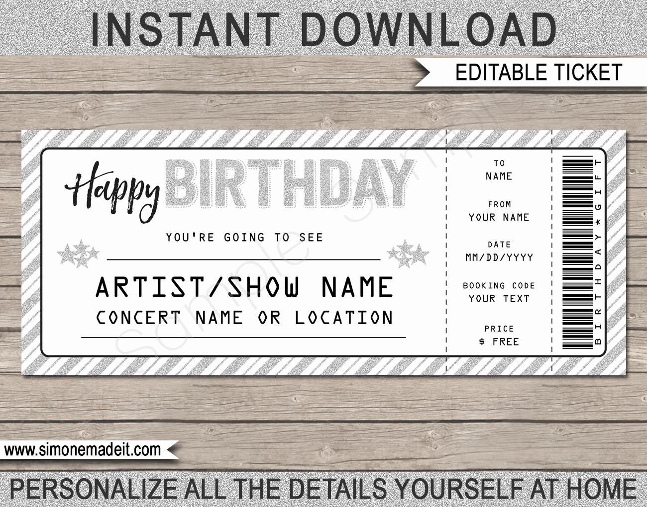 Print Tickets Free Template Beautiful Printable Concert Ticket Template