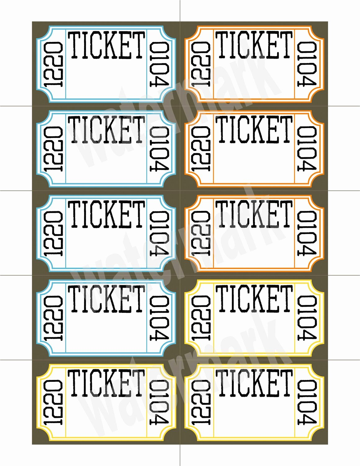 Print Tickets Free Template Elegant Unavailable Listing On Etsy