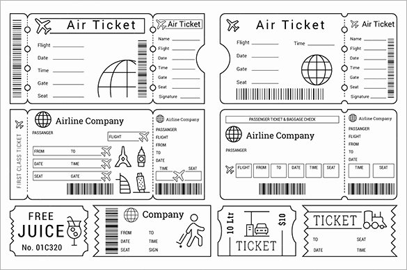 Print Tickets Free Template Inspirational 115 Ticket Templates Word Excel Pdf Psd Eps