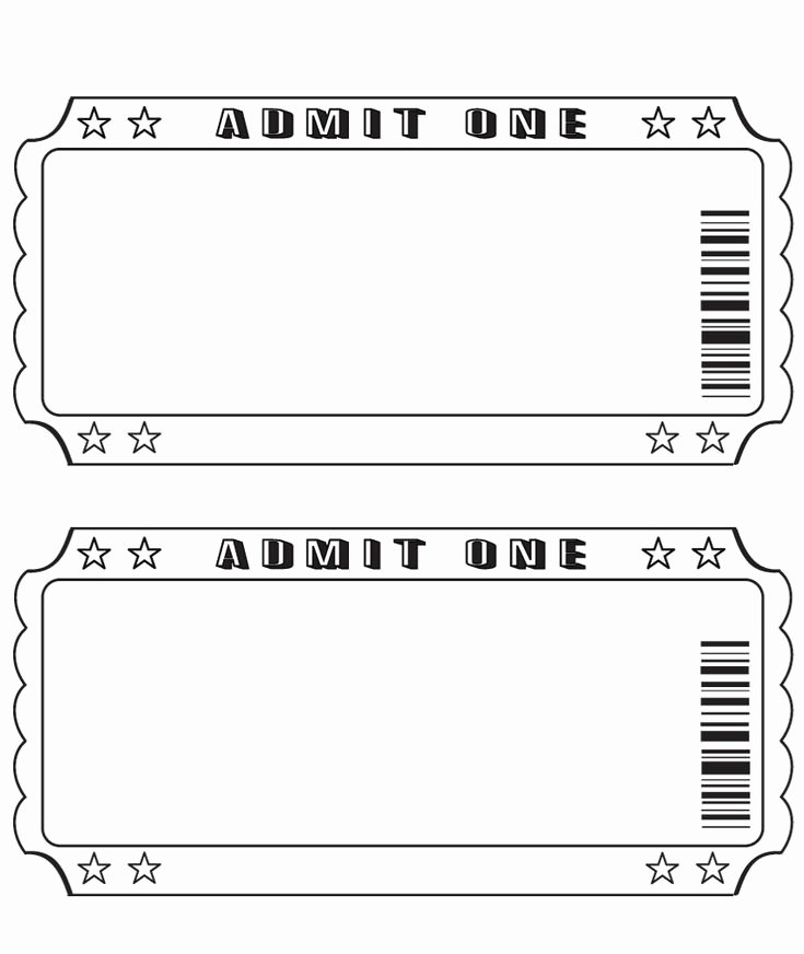 Print Tickets Free Template Inspirational 25 Best Ideas About Ticket Template On Pinterest