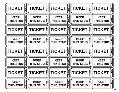 Print Tickets Free Template Lovely Raffle Ticket Template – Emmamcintyrephotography