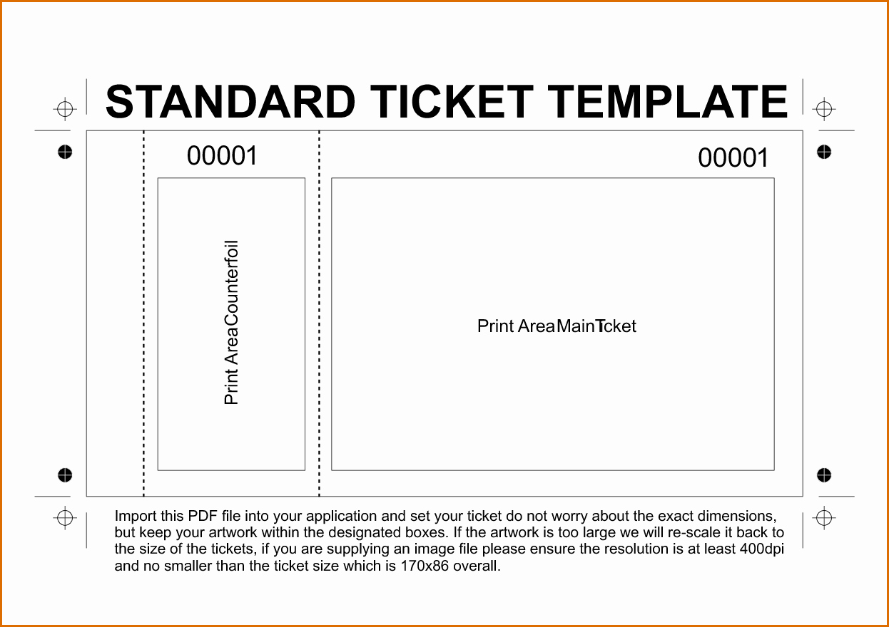 Print Tickets Free Template Luxury 11 Free Printable Raffle Ticket Template