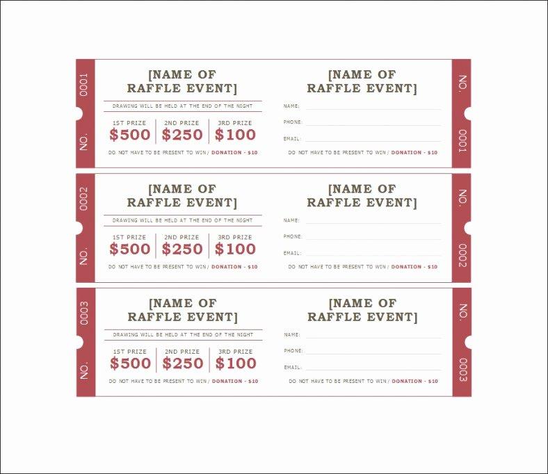 Print Tickets Free Template Unique 18 Sample Printable Raffle Ticket Templates Psd Ai