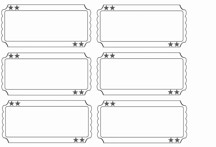 Print Tickets Free Template Unique Printable Raffle Tickets Blank Kids Google Search