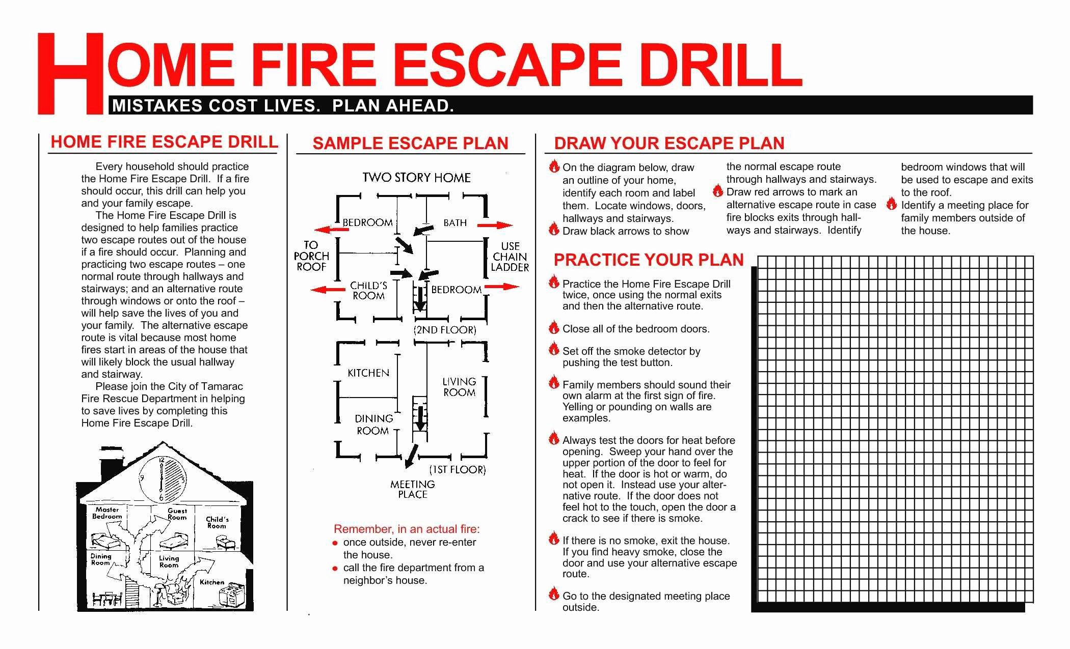 Printable Fire Escape Plan Template Awesome New Free Printable Fire Escape Plan Template
