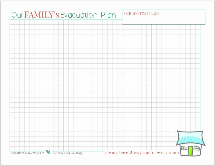 Printable Fire Escape Plan Template Beautiful Fire Safety Being Prepared for House Fires