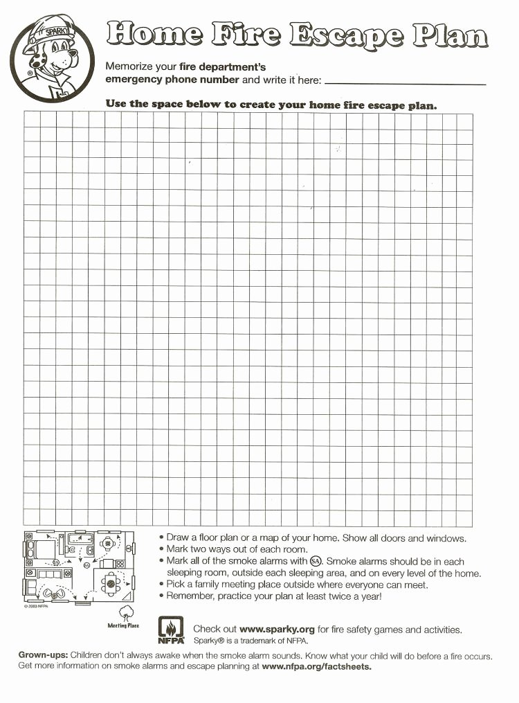 Printable Fire Escape Plan Template Best Of City Of Yorkton Household Fire Escape Plans