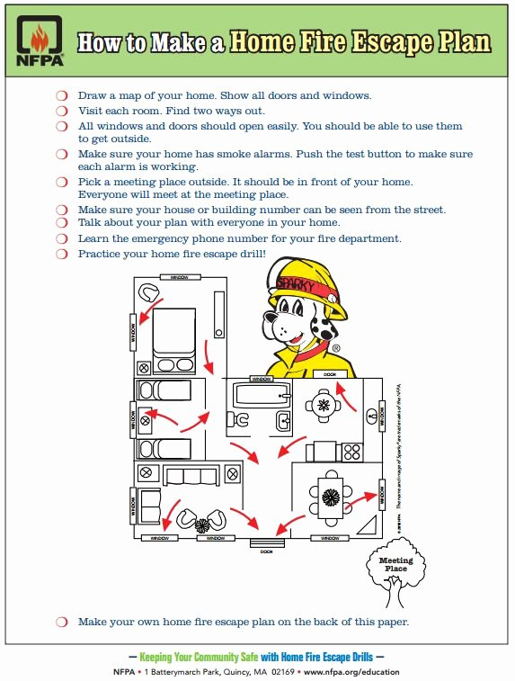 Printable Fire Escape Plan Template Best Of Free Printable How to Make A Home Fire Escape Plan