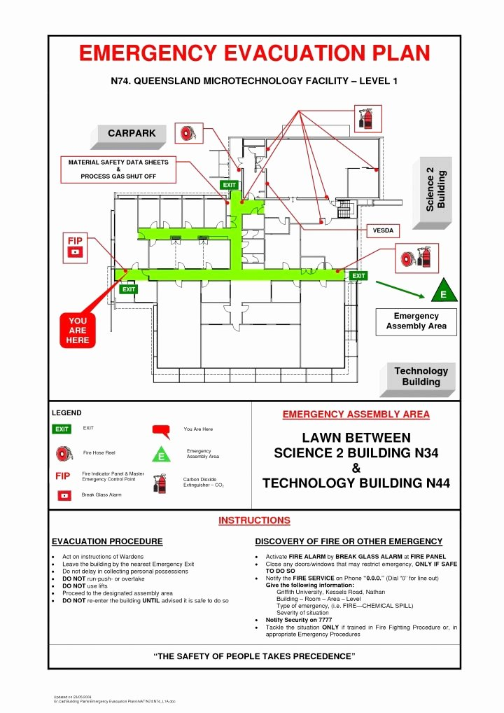 Printable Fire Escape Plan Template Fresh Business Emergency Evacuation Plan Template