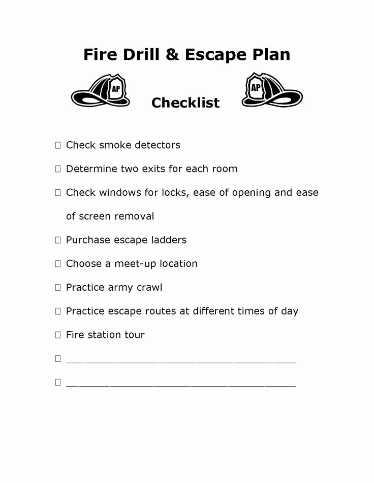 Printable Fire Escape Plan Template Inspirational 12 Best Images About Emergency Procedures On Pinterest