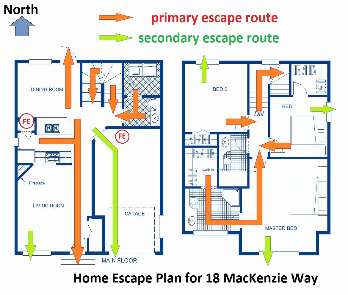 Printable Fire Escape Plan Template Unique Be Prepared Home Escape Plans