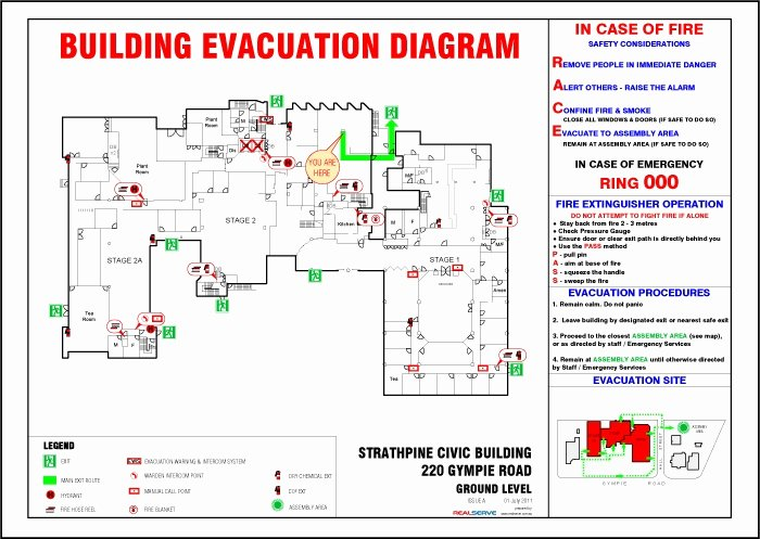 Printable Fire Escape Plan Template Unique Free Fire Evacuation Plan Template