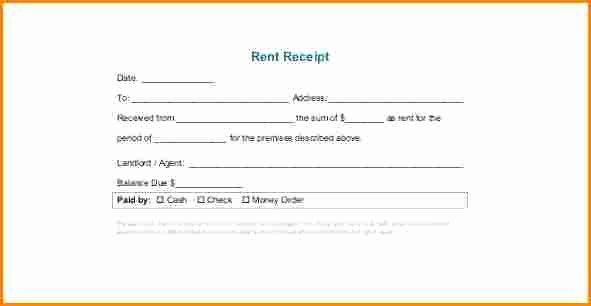 Printable Rent Receipt Template Best Of 9 Printable Rent Receipt Pdf
