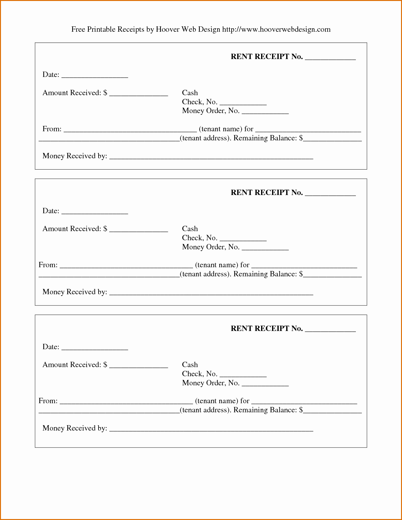 Printable Rent Receipt Template Elegant 4 Printable Rent Receipt