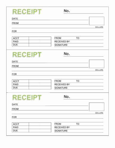 Printable Rent Receipt Template Elegant Free Rent Receipt Templates Download or Print