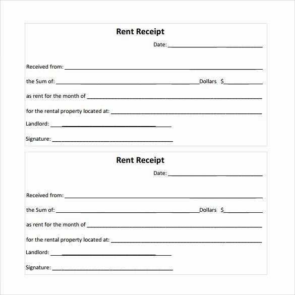 Printable Rent Receipt Template Luxury 21 Rent Receipt Templates