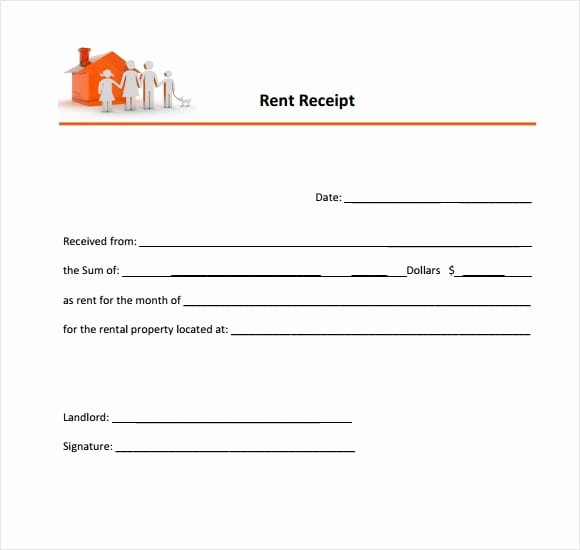 Printable Rent Receipt Template Luxury 6 Free Rent Receipt Templates Excel Pdf formats