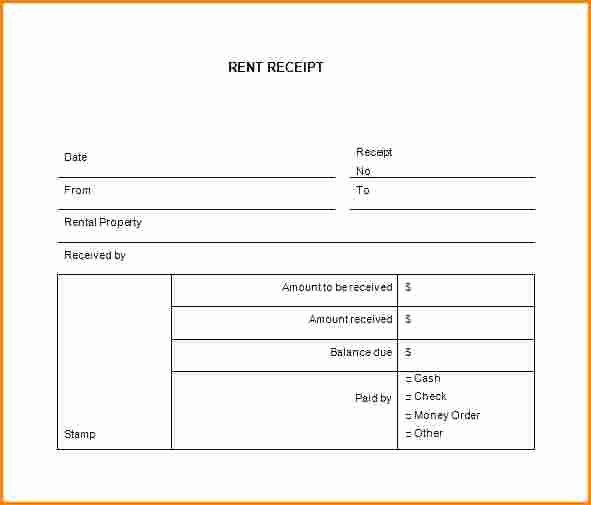 Printable Rent Receipt Template Luxury 7 Rent Receipt Book Template Free