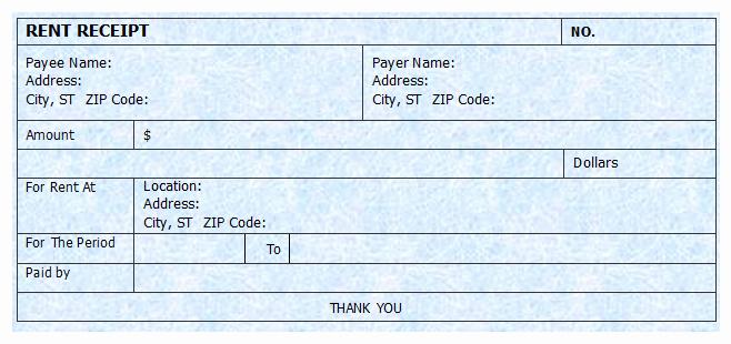 Printable Rent Receipt Template New Rent Receipt Template Microsoft Word Templates